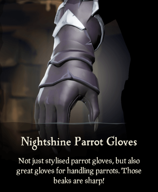 Nightshine Parrot Gloves