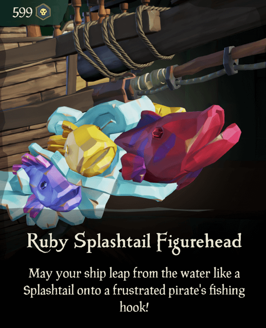 Ruby Splashtail Figurehead
