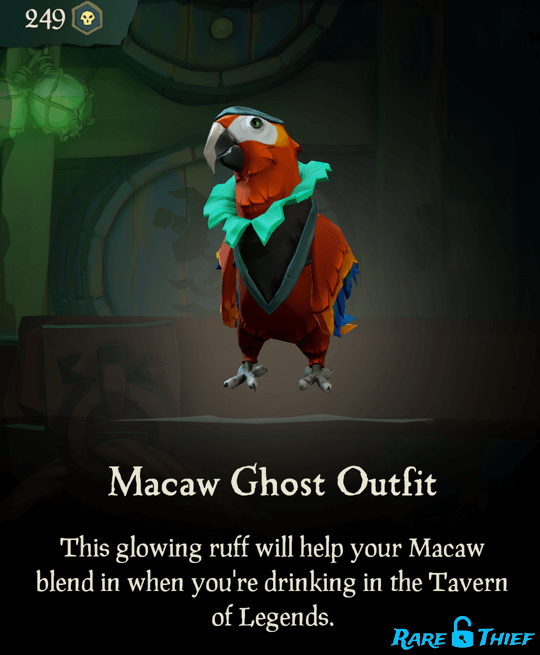 Macaw Ghost Outfit