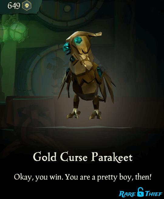 Gold Curse Parakeet