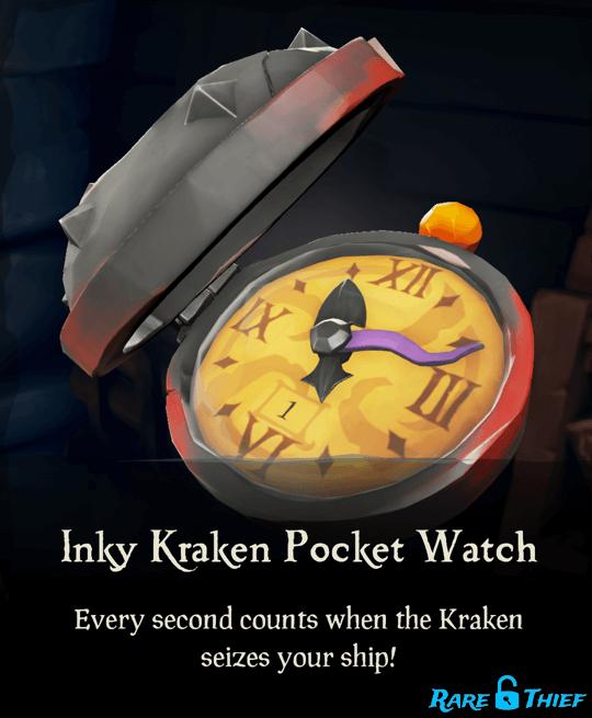 Inky Kraken Pocket Watch
