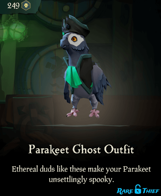 Parakeet Ghost Outfit