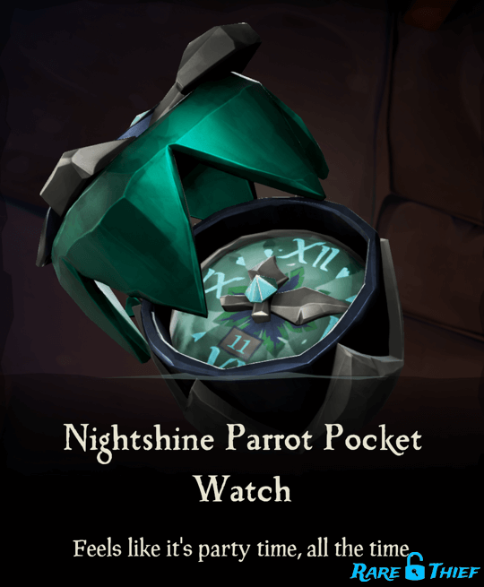 Nightshine Parrot Pocket Watch