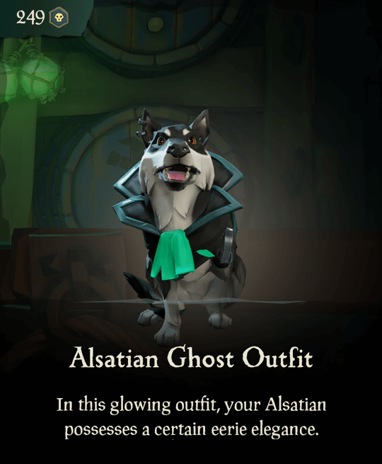 Alsatian Ghost Outfit