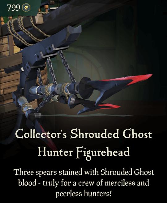 Collector's Shrouded Ghost Hunter Figurehead