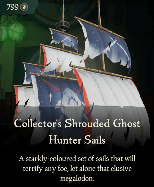 Collector's Shrouded Ghost Hunter Sails