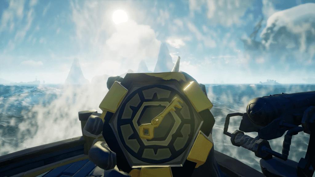 Golden Wayfinder Compass