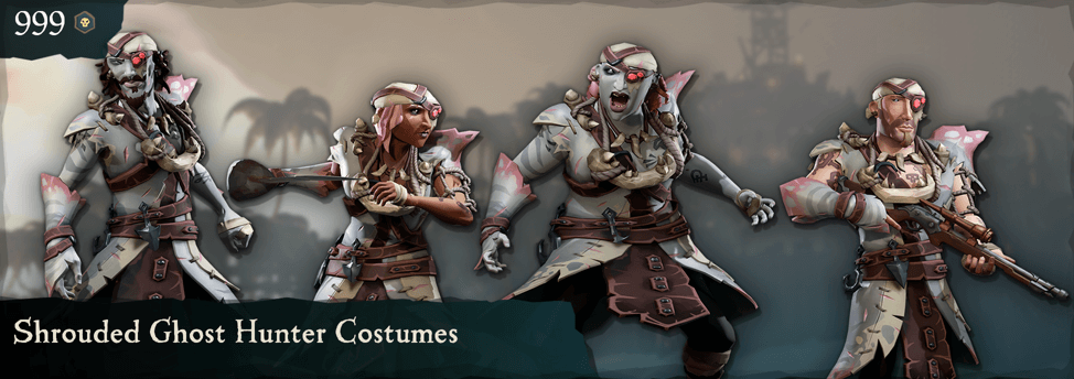 Shrouded Ghost Hunter Costumes