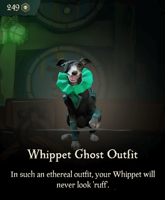 Whippet Ghost Outfit