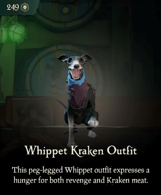 Whippet Kraken Outfit
