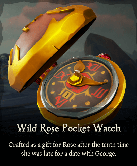 Wild Rose Pocket Watch
