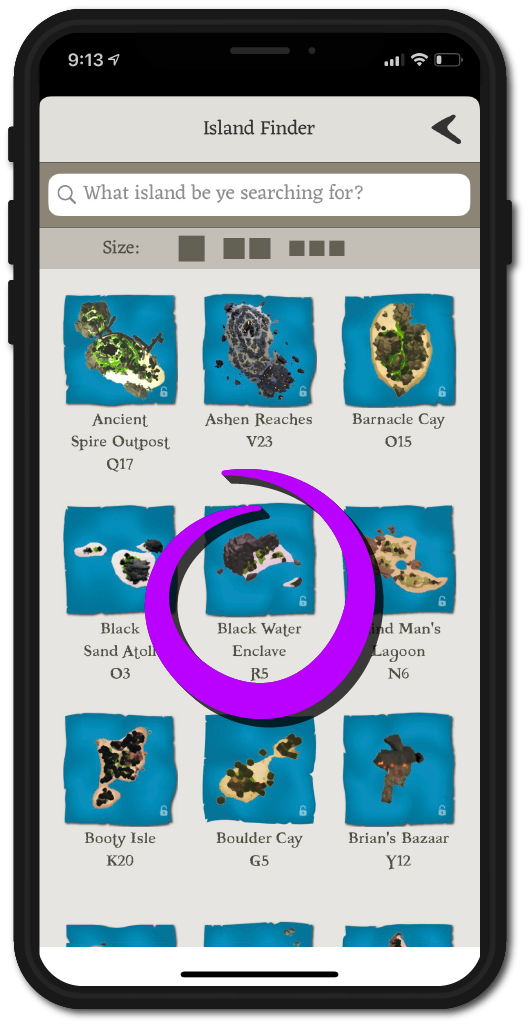 Rare Thief SoT Companion App Island Finder Panel