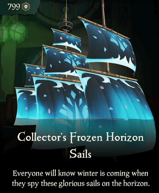 Collector's Frozen Horizon Sails