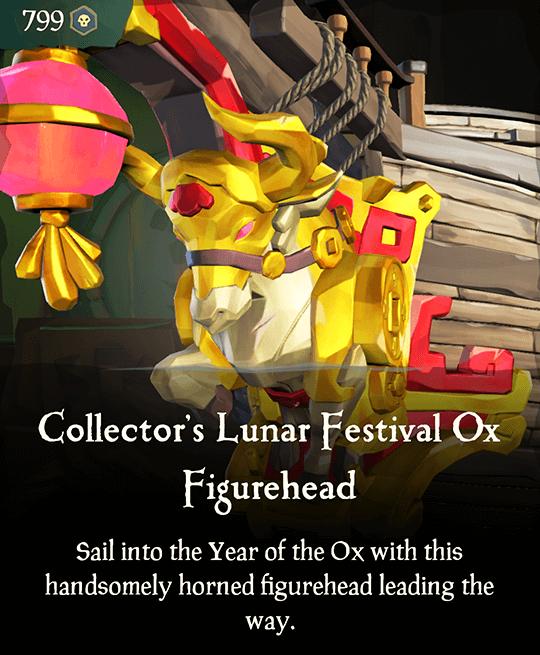 Collector's Lunar Festival Ox Figurehead