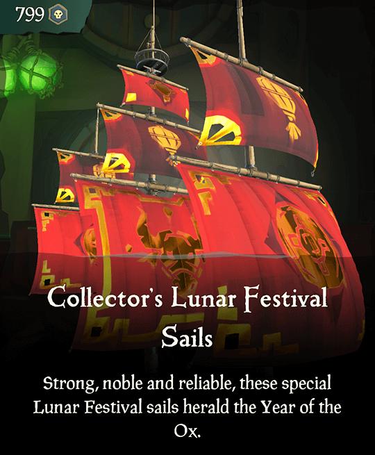 Collector's Lunar Festival Ox Sails