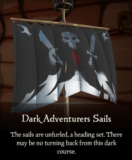 Dark Adventurers Sails