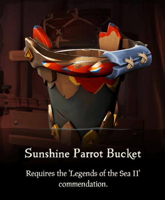 Sunshine Parrot Bucket