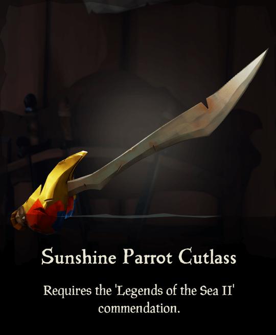 Sunshine Parrot Cutlass