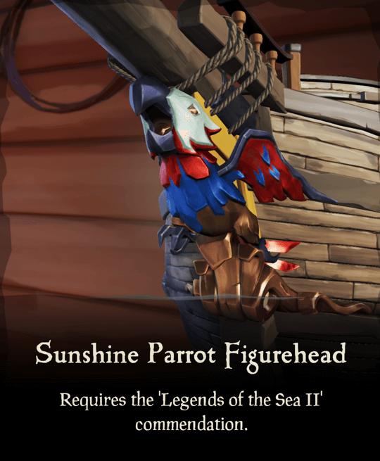 Sunshine Parrot Figurehead