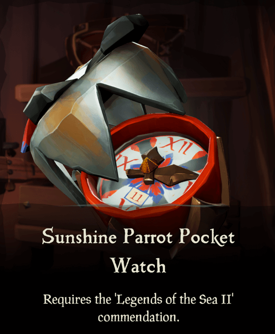 Sunshine Parrot Pocket Watch