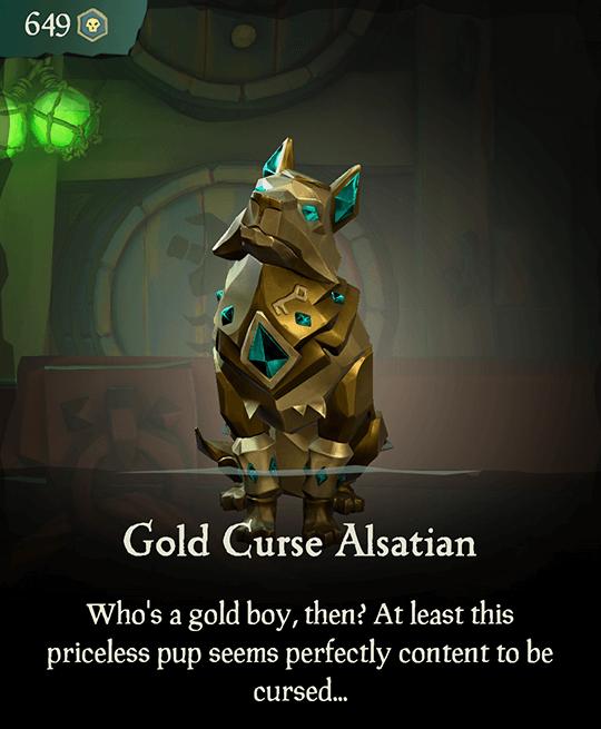 Gold Curse Alsatian