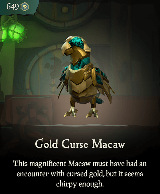 Gold Curse Macaw