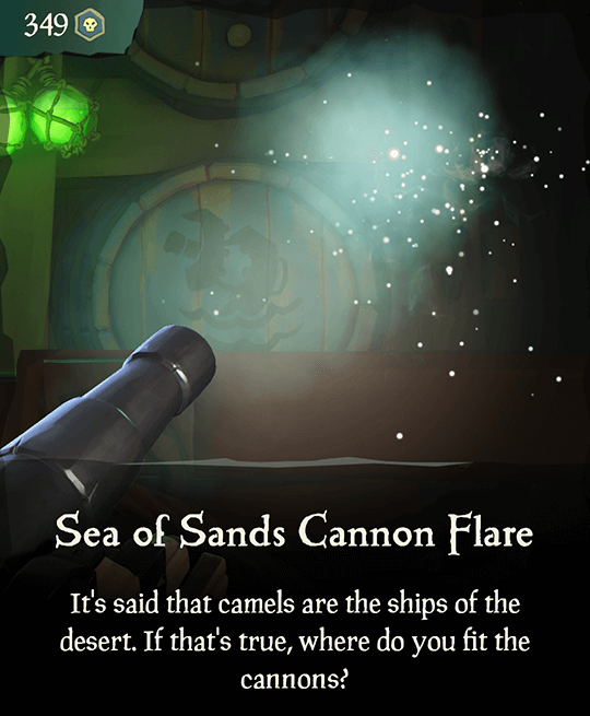 Sea of Sands Cannon Flare