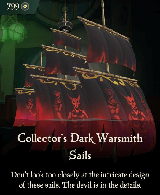 Collector's Dark Warsmith Sails