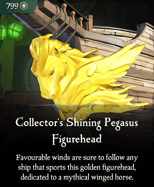 Collector's Shining Pegasus Figurehead
