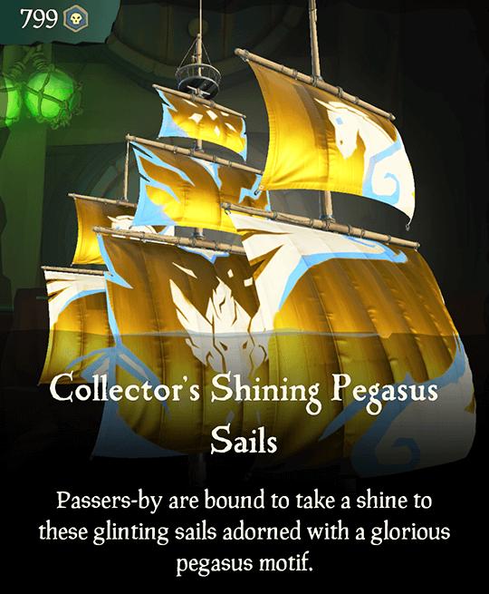 Collector's Shining Pegasus Sails