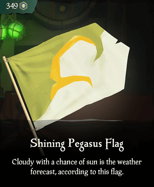 Shining Pegasus Flag