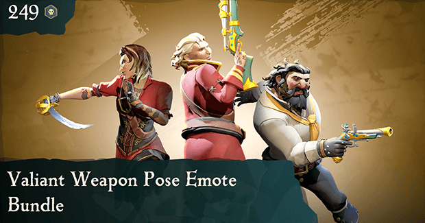 Valiant Weapon Pose Emote Bundle