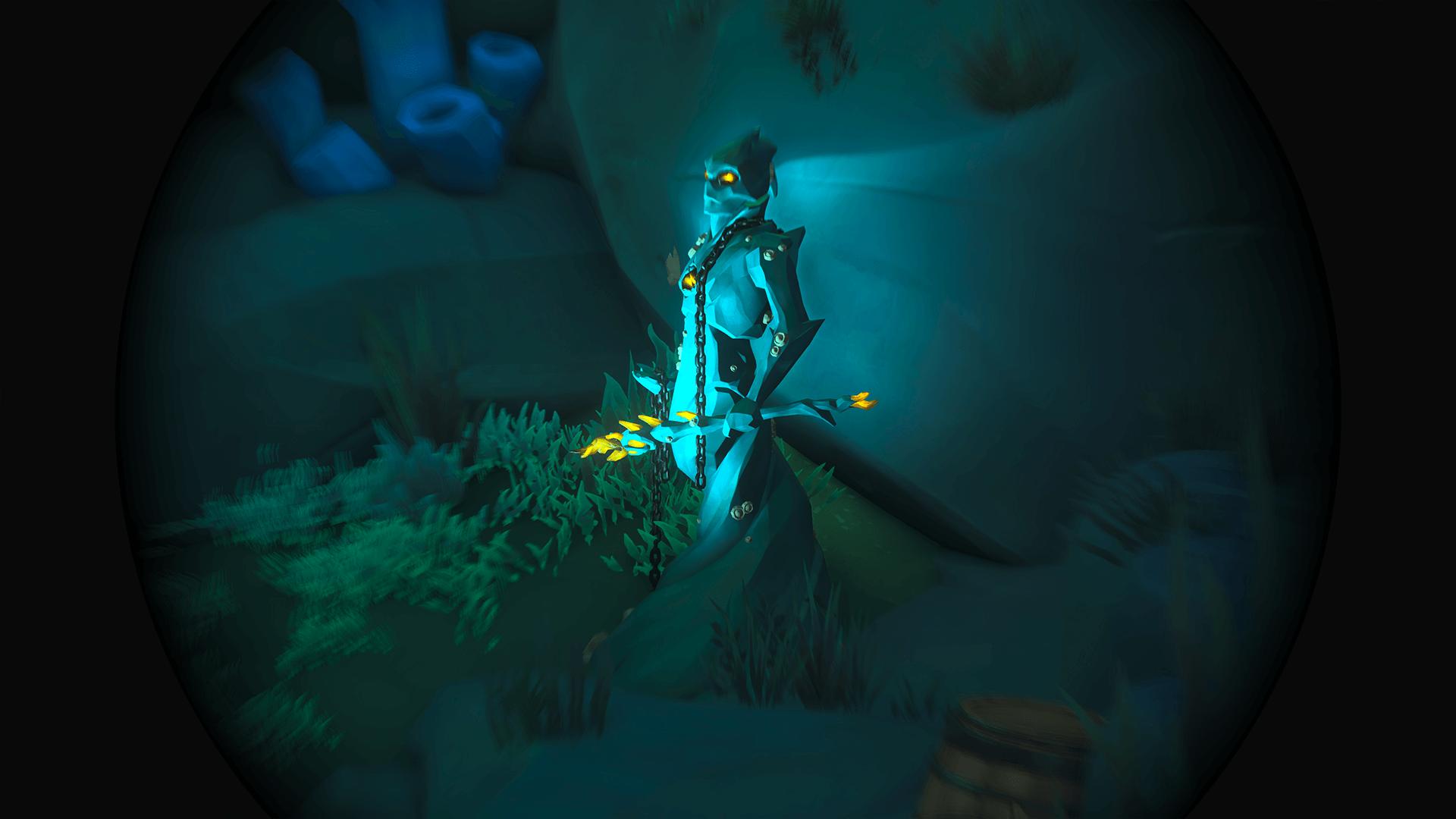 Citadel-Cavern 3-Chain Statue Low