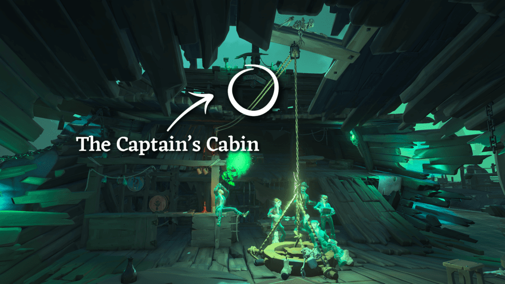 Raising the Dead, the Captain's Cabin above the Tavern