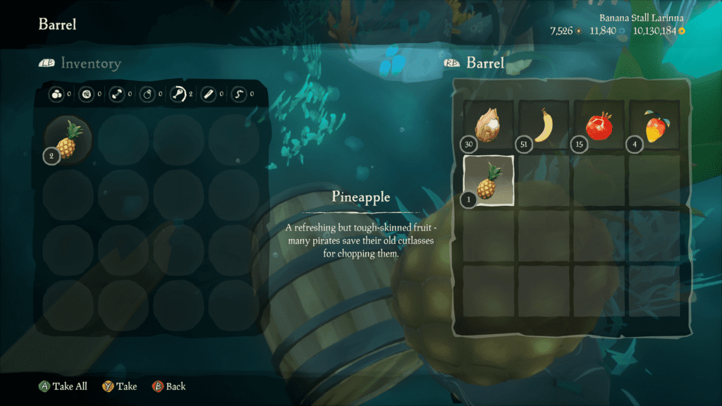 Fight For the Crew, Resources Barrels with Pineapple