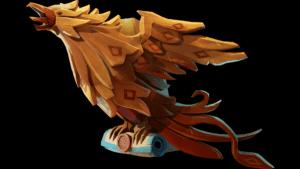 Gilded Phoenix Figurehead