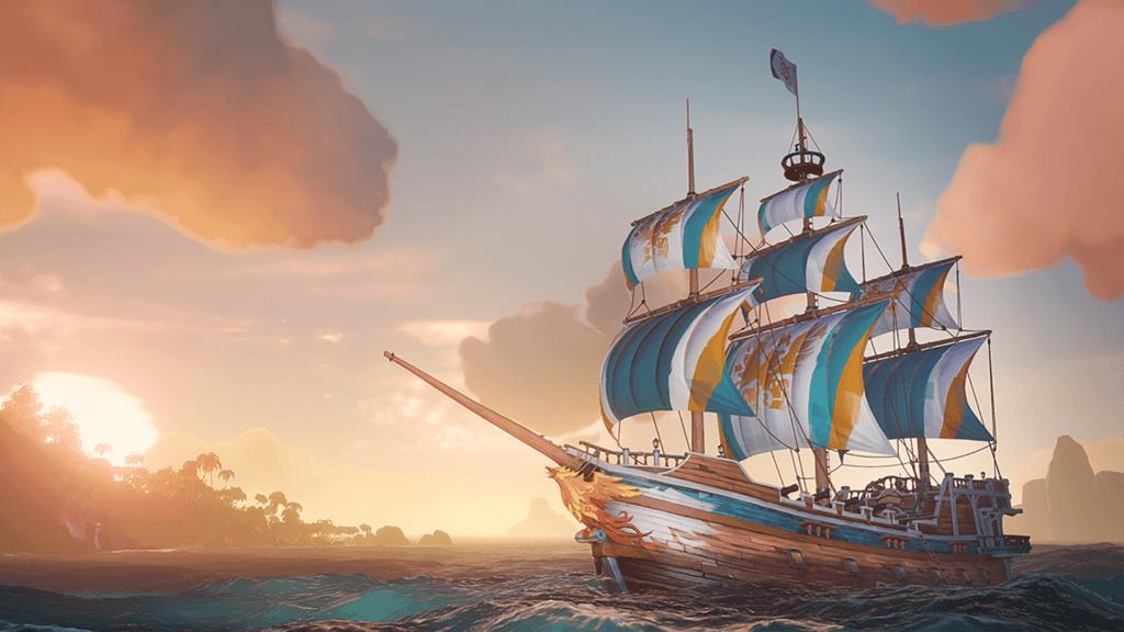 Gilded Phoenix Ship Set