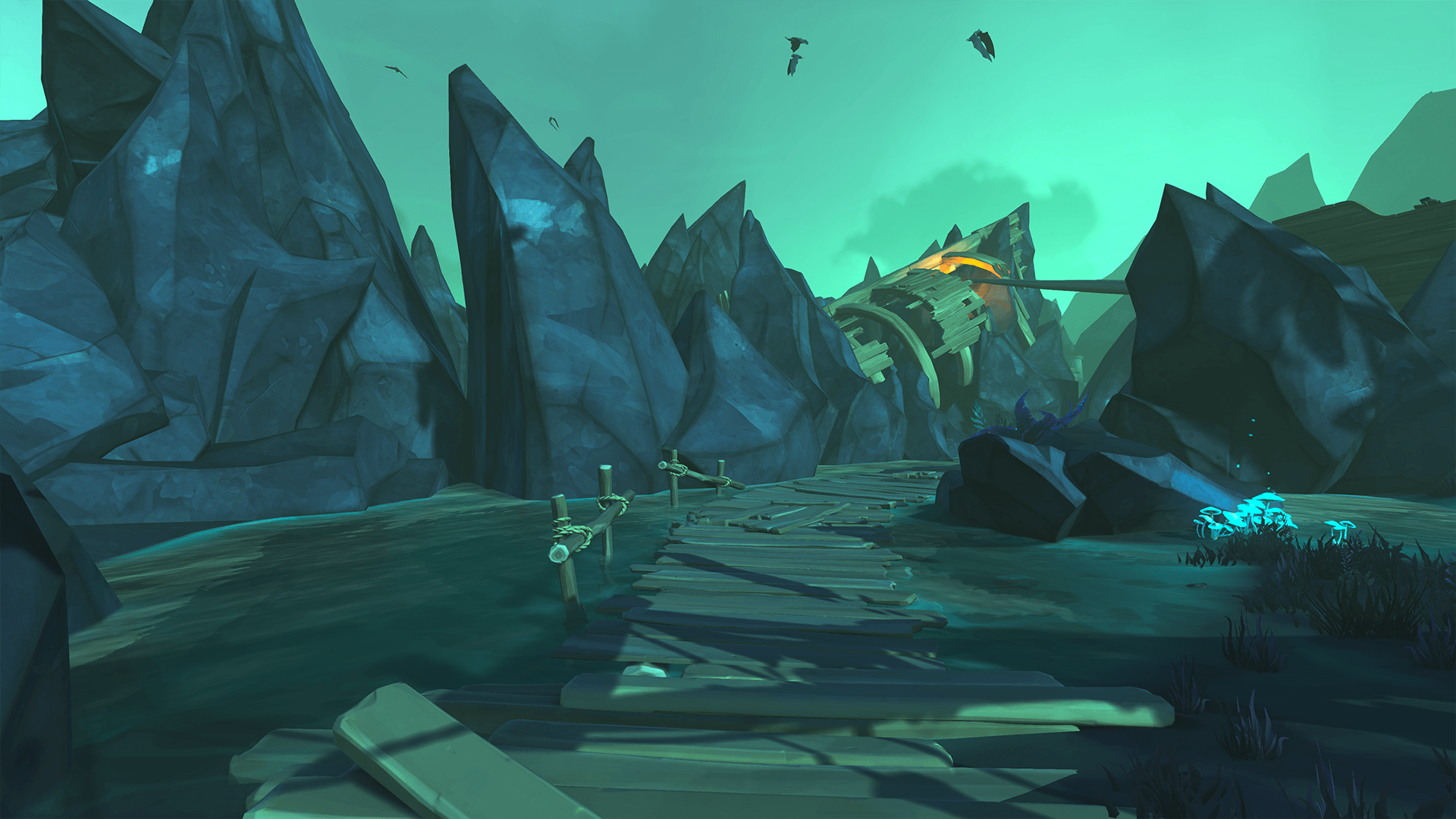 Path to Front of Halved Shipwreck