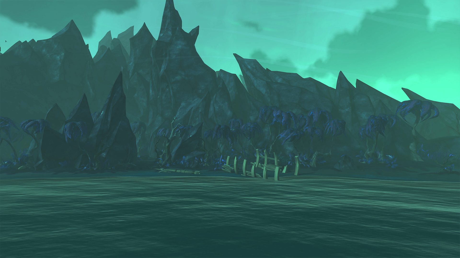 Approaching the Island on Strange Shores