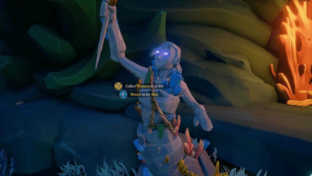 Sunken Merfolk Statue
