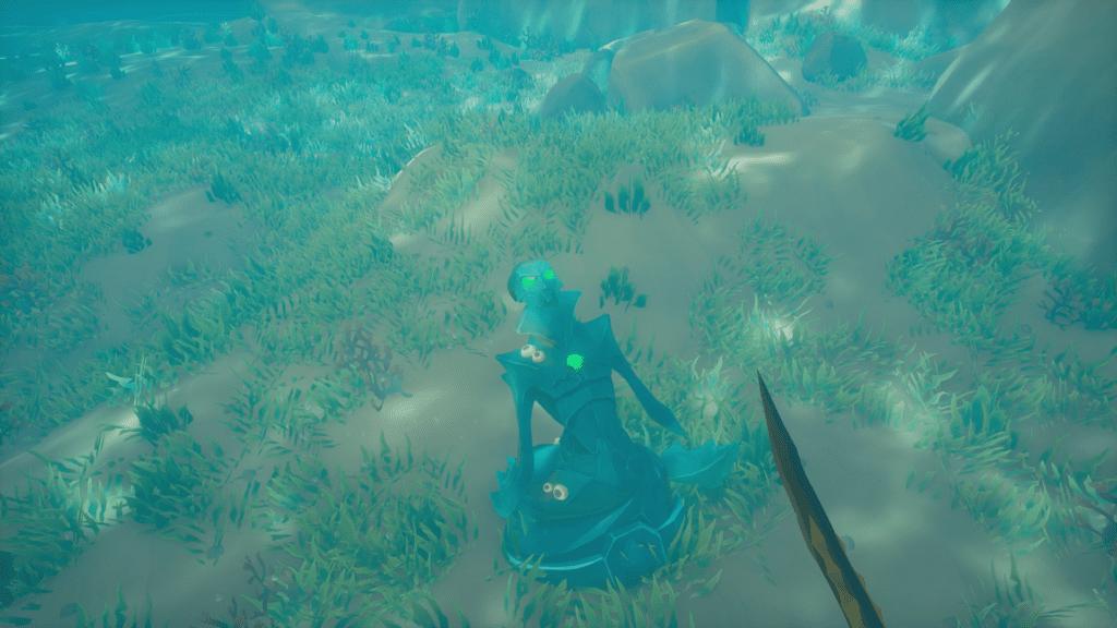 Emerald Cursed Mermaid Statue